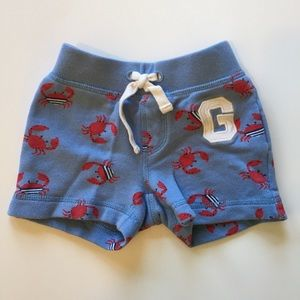 GAP crab red and blue shorts.